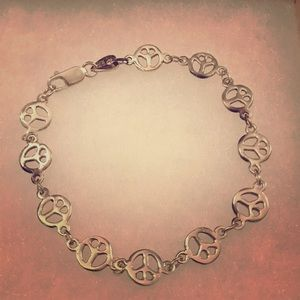 Jewelry - Small Peace Sign Bracelet